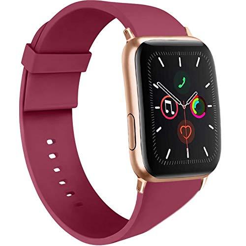 AK Cinturino Compatibile per Apple Watch 44mm 42mm 38mm 40mm, Cinturino Sport in Silicone Cinturino Uomo e Donna per iWatch Serie 5 4 3 2 1