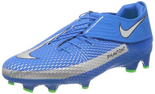 Nike Phantom GT ACDMY FLYEASE FG/MG, Zapatillas de ftbol Unisex Adulto, Photo Blue Mtlc Silver Rage Green, 42.5 EU