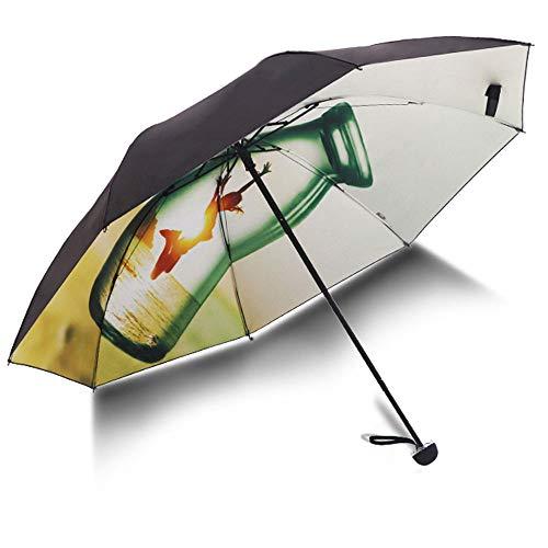 Big seller Regenschirme UV-Schutz Sonnenschirm schwarz Kunststoff Sonnencreme weibliche Sonnenschirm Regenschirm Taschenschirm (Farbe : Green)