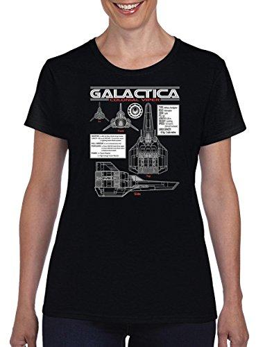 TSP Galactica Viper Blueprint Damen T-Shirt M Schwarz