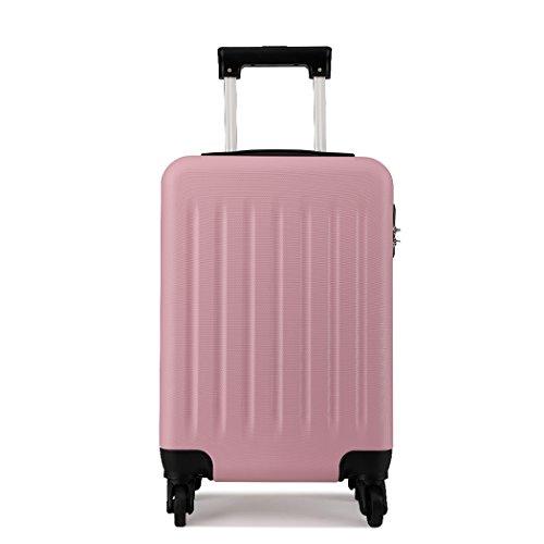 Kono Hardside Hand Luggage 4 Wheeled Spinner 19 inch Pink