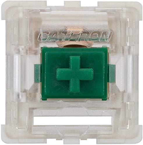 Gateron KS-9 RGB Mechanical MX Type Key Switch - Clear top (65 Pcs, Green)