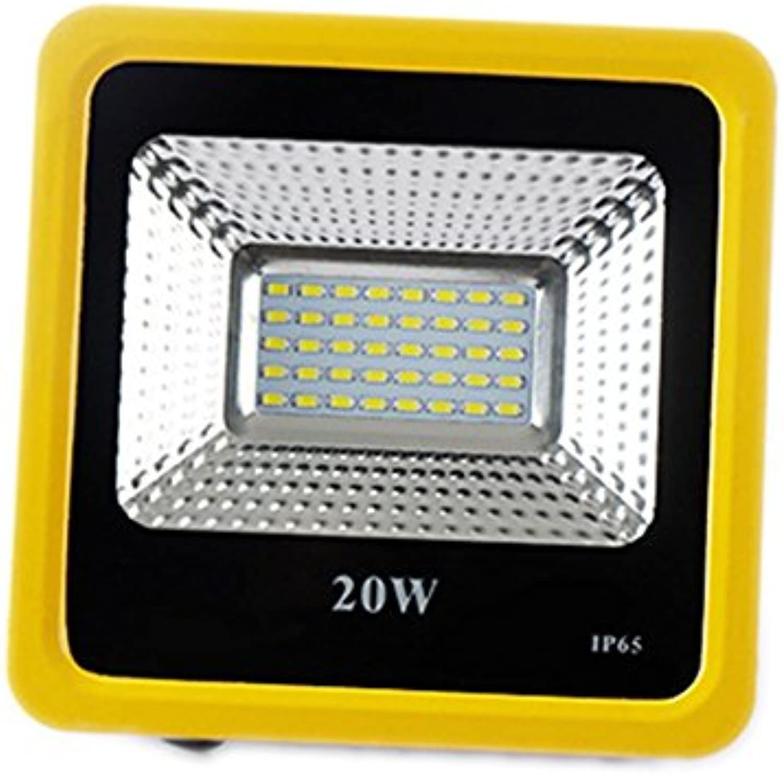 JAYLONG Flut-Licht 20W-200W LED, Wasserdichtes IP65, 8900Lm, Super Helle LED-Flut-Lichter Im Freien Für Spielplatz, Garage, Garten, Rasen und Yard-Modell,Weiß,20W