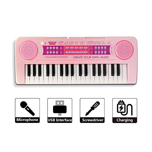 SAOCOOL Kids Piano Toys, Chargable...