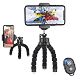 JUMKEET Phone Tripod, Mini Tripod with Bluetooth Control, Portable Mini Tripod, Flexible Octopus Style Camera Mount Desk Travel Outdoor Compatible with iPhone & Android Phones,Cameras,GoPro