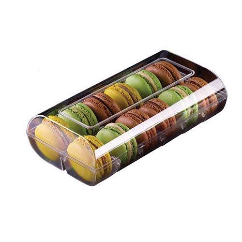 Silikomart professional - Boîte couleur 12 macarons 48 boîtes blanches. Cuisine : Autour De La Pâtisserie (le Macaron Du Chef)