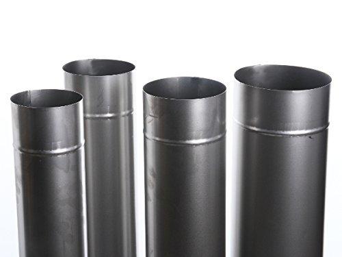 Unbekannt Kaminrohr Ofenrohr Rohr Heizung Rauchrohr 9 Größen 100cm Länge (Ofenrohr 130)