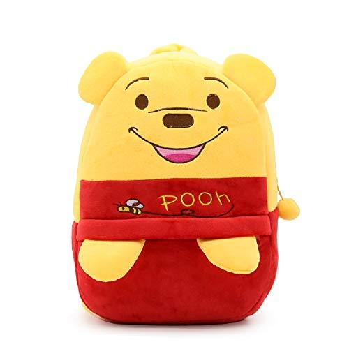 CHDJ 3D-Kinder-Rucksack, niedlich, Plüsch, Cartoon, Tier-Rucksäcke für 3–5 Jahre Schultasche Gelb Winnie The Pooh 3-5 Jahre