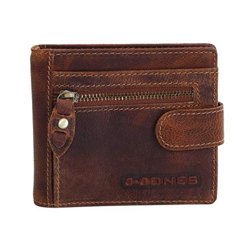 Dollar-Clip mit RFID Schutz von J. Jones - Geldklammer Herrenbörse Geldbörse Geldbeutel Herren-Portemonnaie Lederbörse Börse aus Leder (Braun) - präsentiert von ZMOKA®