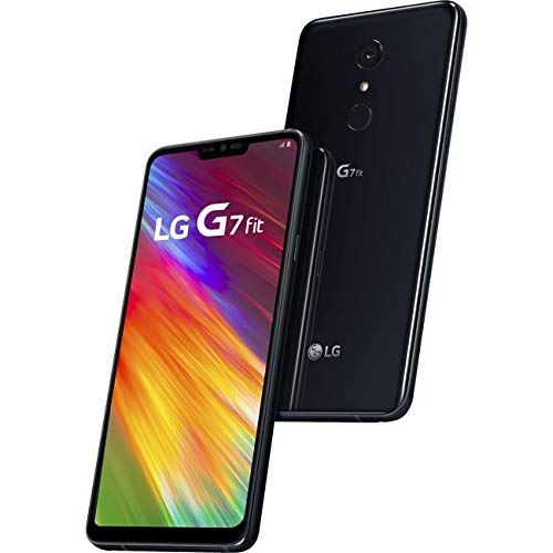 """LG G7 Fit 32GB 6.1"""" Smartphone - GSM+CDMA Factory Unlocked for All Carriers - Aurora Black (US Warranty) by LG"""