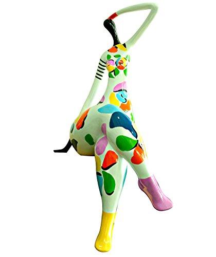 Meubletmoi - Statua da donna, decorazione bianca e multicolore, stile pop art, oggetto di design moderno