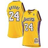 Kobe Camiseta de baloncesto Bryant sin mangas Los Traning Jersey Angeles Mesh Lakers #24 Hardwood Classics Jersey Oro - Icon Edition-XL