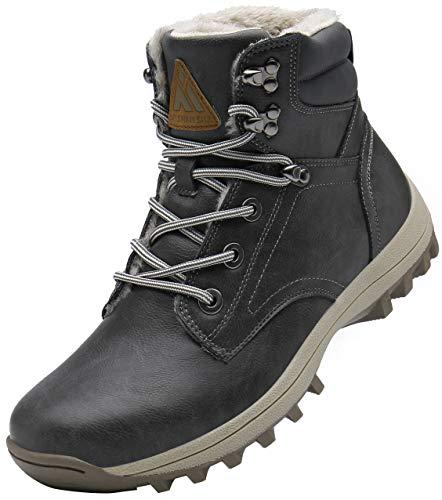 Mishansha Stivali da Trekking Uomo Scarpe Neve Impermeabili Outdoor Pelliccia Sneakers Stivaletti Escursionismo Invernali,Wander Grigio 48 EU