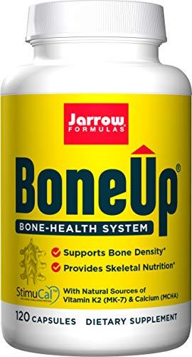 Jarrow Formulas BoneUp - 120 Capsules - Micronutrient Formula for Bone Health - Includes Natural Sources of Vitamin D3, Vitamin K2 (as MK-7) & Calcium - 60 Servings
