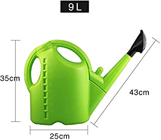 Asdfnfa High Capacity Garden Watering Can (Color : Green, Size : 9L)