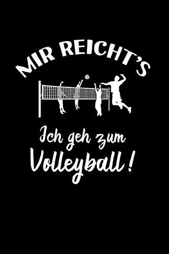 Beach-Volleyball: Ich geh zum Volleyball!: Notizbuch / Notizheft für Volleyballer-in Volleyballspieler-in Volley A5 (6x9in) dotted Punktraster