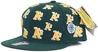American Needle(アメリカンニードル) オークランド・アスレチックス Cooperstown Allover Fitted Hat キャップ/帽子 (グリーン)