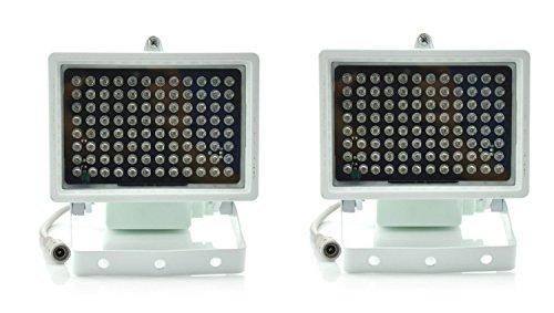 Intsun 2pz 96 LED Illuminatori IR Luce, Luce infrarosso, Luce infrarossa LED IR luce infrarossa, CCTV IR a raggi infrarossi Night Vision Security Camera per CCTV sicurezza, standard di 45 ° Angolo di livello visivo Gamma