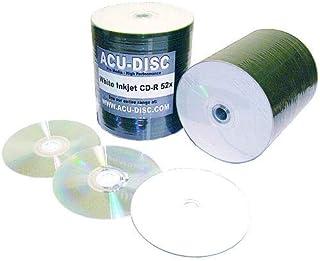 comprar comparacion - Acu-Disc - Juego de 100 CD-R, velocidad de lectura de 52 X, cara completamente imprimible, en envoltorio compacto