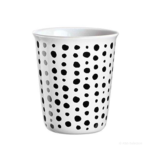 ASA coppetta Tasse à expresso, Tasse à Café, Tasse, Céramique, Black Spots, noir/blanc, 100 ml, 44009214