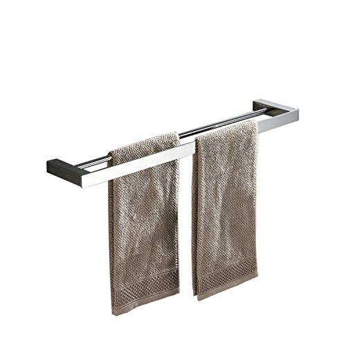Beelee Badezimmer Toilette Doppelte 40cm Handtuchstange Wandhalterung, Edelstahl - Edelstahl, Poliert BA8502C-40