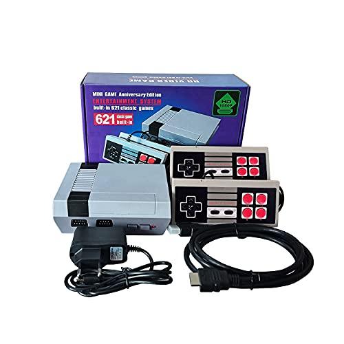 Console da Gioco Classic Mini,HD 1080P Uscita HDMI - Videogioco Retrò 621 Incorporato e 2 NES Controller Classici