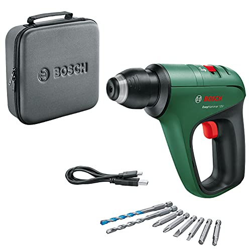 Bosch Home and Garden 06039D0000 Bosch Martillo perforador EasyHammer 12V (con batería de 12 V integrada, para atornillar, taladrar y percutir, en Funda Blanda)