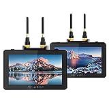 Feelworld FT6 FR6 5.5 Pulgadas Cámara Monitor Transmisión de Video Inalámbrica Sistema de Transmisor y Receptor Incorporado Largo Alcance 800 pies Baja Latencia 0.07s Táctil 3D LUT HDR 4K HDMI
