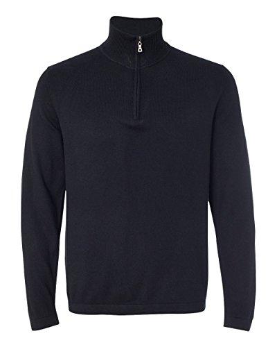 Weatherproof Mens Vintage Cotton Cashmere Quarter-Zip Sweater 151391 -Black L