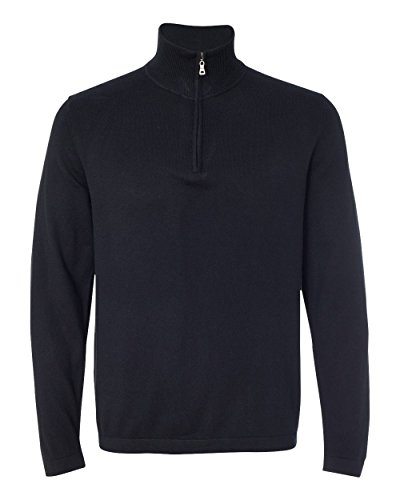 Weatherproof Vintage Cotton Cashmere Quarter-Zip Sweater M Black