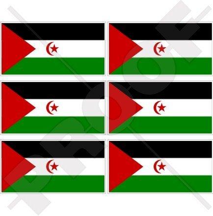 Westsahara Flagge North Afrika, afrikanischen 40mm (40,6cm) Mobile Handy Vinyl Mini Sticker, Aufkleber X6