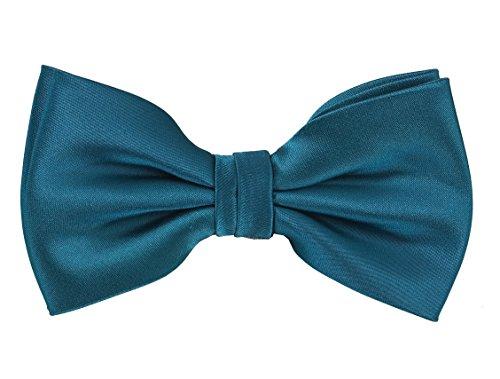 PUCCINI Herren Fliege für Männer, einfarbige/uni Schleife passend zum Smoking oder Anzug, bow-tie für den Mann in (Petrol)