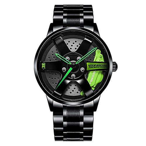 Reloj Masculino Hombres Rim Hub Watch Diseño Personalizado Reloj de Pulsera para automóvil Acero Inoxidable Custom no Printing Wheel Rim Hub Relojes Hombre
