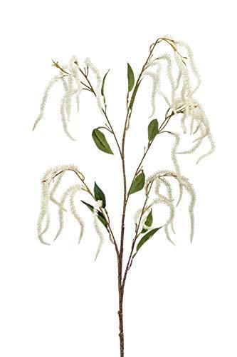 PARC Network Deko Zweig Amaranth, Creme, 100cm - Kunstzweig Amaranthus - Kunstpflanze Amaranth - Fuchsschwanz Künstlich - Künstlicher Fuchsschwanz
