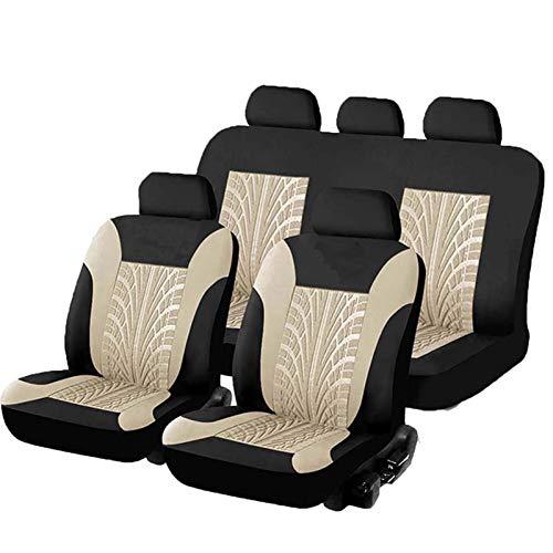 Cuatro estaciones Cubiertas de asiento de automóvil de encirclo completo Conjunto Universal Fit Must Cars Cubiertas con patrón de mariposa Detalle de la pista de neumáticos Detalle de los protectores