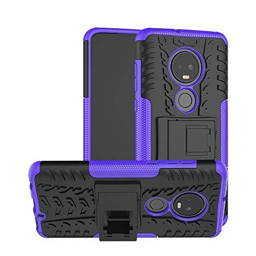 Moto G7 Case,Moto G7 Plus Case,Moment Dextrad [Kickstand][Non-Slip Design] Shockproof Dual Layer Protection Hybrid Hard Case Cover for Moto G7/Moto G7 Plus (2019) + Stylus (A Purple)