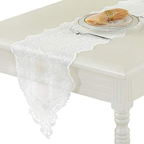 Chemin de table en dentelle - Procédé de broderie tridimensionnelle hydrosoluble Utilisé pour la table à manger table basse Boîte à chaussures Coiffeuse Comptoir de bar (Taille : 30×70cm)