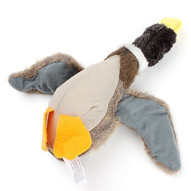 Classic Dog Toys Stuffed Squeaking Duck Dog Toy Plush Puppy Honking Duck for Dogs(Random Color))