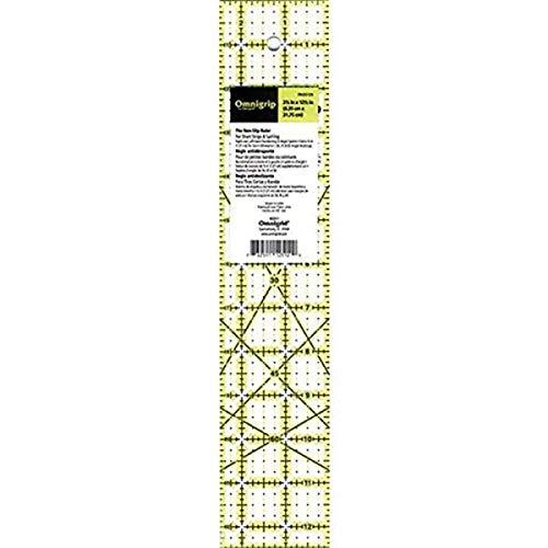 """Omnigrip Quilter-Lineal, rutschfest Rechteck 2-½\"""" x 12-½\"""" Originalversion"""