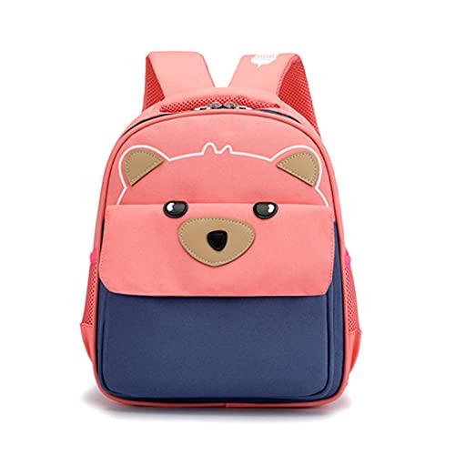 Honestyi Kinderrucksack Rucksack für Mädchen, Kleiner Schulranzen Mädchen, Bär Kinder Rucksäcke Leichte wasserdichte Büchertasche für Mädchen Kindergartenschüler 25x12x32cm
