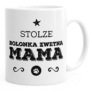 MoonWorks Kaffee-Tasse Stolze Bolonka Zwetna Mama Bolonka Zwetna Besitzerin Hundebesitzerin weiß Unisize