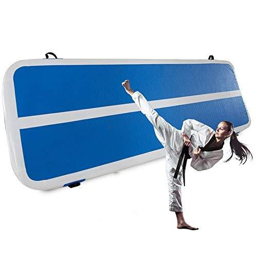 FlowerW 1x3M Airtrack Gymnastik Stolpern aufblasbare Gymnastikmatte aufblasbare aufblasbare Luftbahn für Picknick oder Übung