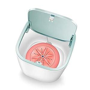 JYDQT Portable Electric Washing Machine USB Charging Mini Clothes Washing Washer, Dorm, Apartment (Color : Pink)