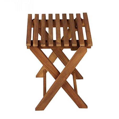 GAOJIAN Hocker GAOJIAN Im Freien klappbarer Stuhl-Hocker Beweglicher Fischen-Stuhl-Freizeit-Fester hölzerner Hocker-Teakholz-Farbe