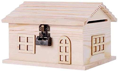 XHAEJ Neue Holz Piggy Bank Geld Bank Münze Bank Safe Münze Banken Geld Sperende Box Schlüsselsperre Für Erwachsene Münze Gläser Jungen Mädchen
