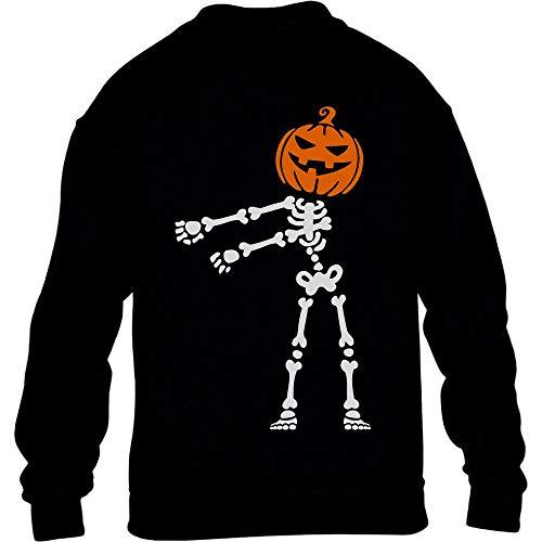 Shirtgeil La Floss Zucca di Halloween Jack O' Lantern Maglione per Bambini e Ragazzi 11-13 Anni L (164cm) Nero