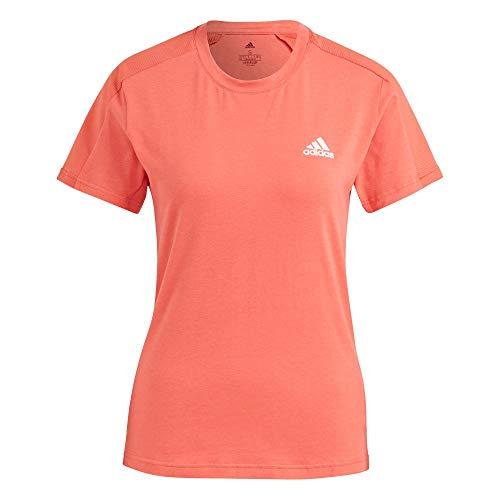 adidas GL4005 W MT T T-Shirt Donna Crew Red/White XL