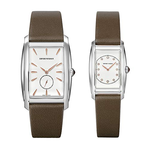 Emporio Armani - Reloj Unisex de Cuero de Cuarzo ARS8353