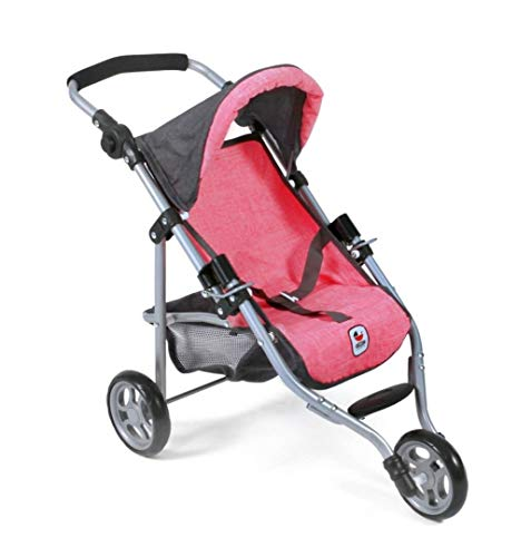 Bayer Chic 2000 612 41 Jogging Buggy Lola, Puppenwagen, Melange anthrazit-pink