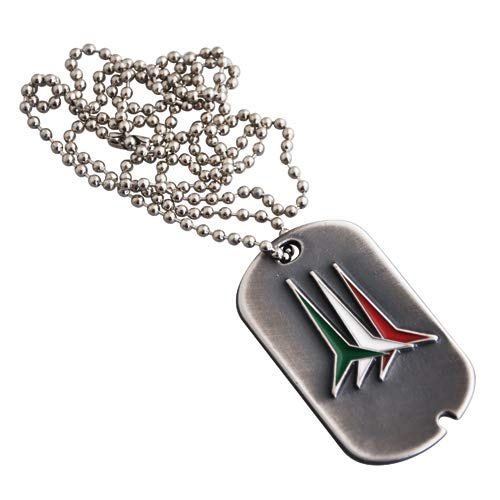 Giemme MEDAGLIA in Metallo Invecchiato Logo COLORATO FRECCE TRICOLORI